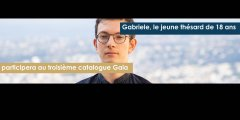 Gabriele, jeune doctorant de 18 ans, participera au troisième catalogue Gaia